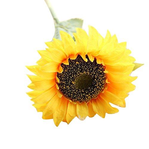 SO-buts Flores Artificiales, Girasol Artificial de Tacto Real para decoración del hogar