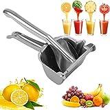 Spremiagrumi Manuale,Professionale Succo di Frutta Pressa,Anti-Corrosione-Robusta & Durevole,Acciaio inossidabile portatile manuale Estrattore spremiagrumi per spremiagrumi per cucina domestica