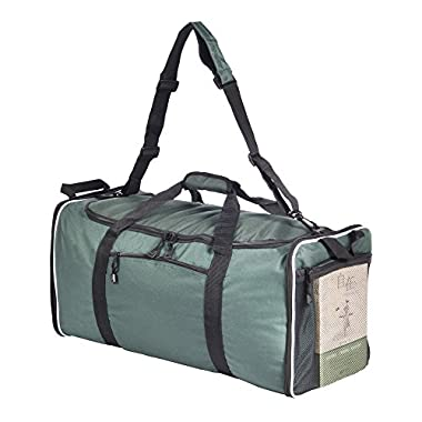 Lucien Hanna 60L Large Capacity 25x12.5x11 inches Travel Duffel Bags Foldable Bag Single Shoulder Strap