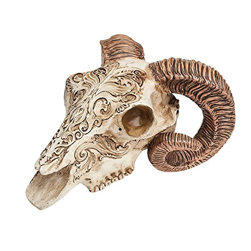 Alchemy Gothic Scrimshaw Ram Skull