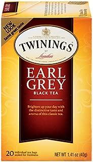 Twinings of London Earl Grey Black Tea Bags, 20 Count