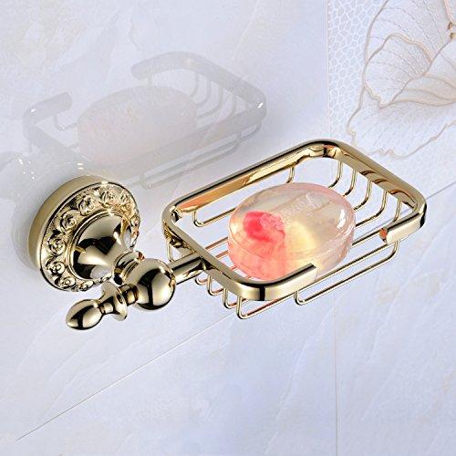 Weare Home Accessori da bagno Modern ti–pvd ottone anticato materiale–Porta saponetta–porta saponetta per montaggio a parete bagno camera Accessories