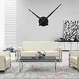 URAQT 3D Wanduhr Uhrwerk & Uhrzeigern, Quarz-Uhrwerk, Wanduhr Sets, Modern für die Wand, mit 2 Nadeln, Uhrwerk zum selber bauen (schwarz)