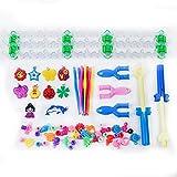 WE-WHLL Goma elástica Bandas de Telar de Colores Caja de Inicio con Ganchillo Tejedor Arco Iris Pulsera Kit de Herramientas para Tejer para niños Regalo para niños