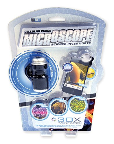 Nature Bound Toys Smart Phone Field Science Microscope with 30X Magnification & Batteries Included Science Kit, Silver