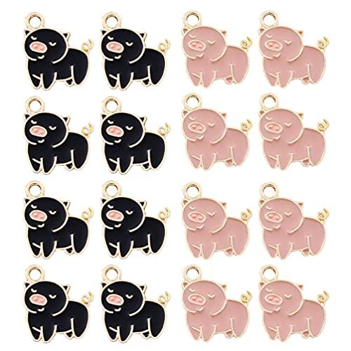 SOIMISS 20 Piezas de Bonitos Encantos de Cerdo Piggy Dibujos Animados Aleación de Zinc Aceite Colgantes DIY Accesorios de Joyería Color Mezclado