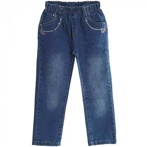BEZLIT Baby Mädchen Jeans Hose Röhre Straight Fit Skinny Sommer Stretch Bootcut 20503 Blau Größe 18 M