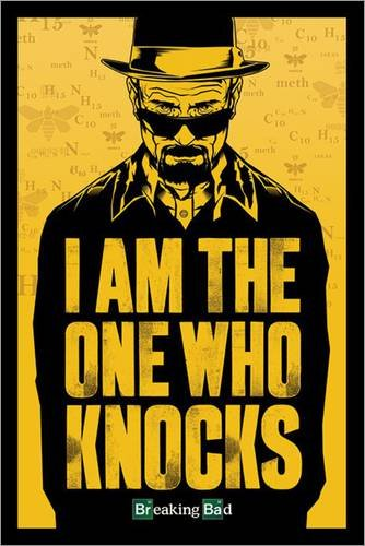 Poster Breaking Bad - I am the one who knocks - manifesto risparmio, cartellone XXL in formato 61 x 91.5 cm