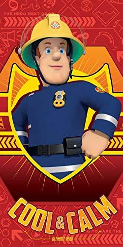 Feuerwehrmann Sam Strandtuch 70x140cm 100% Baumwolle Saunatuch Badetuch Handtuch