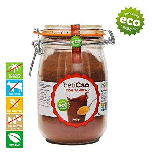 BetiCao con Panela Tarro Cacao Soluble Instantáneo Ecológico 700 gr 100{7411ff6df5e740ce31657b06ec942a12c326afa722773f7d5dc79cb80568e462} BIO
