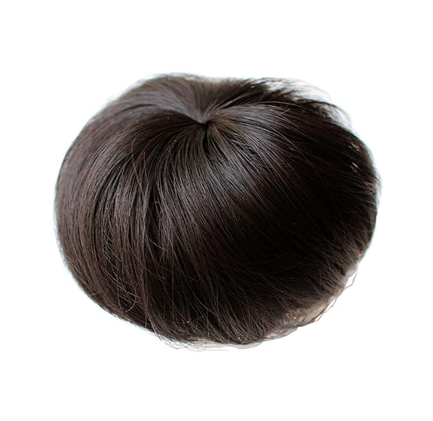 少女用ヘアアクセサリー合成ストレートヘアパン弾性ヘアバンド(黒褐色)