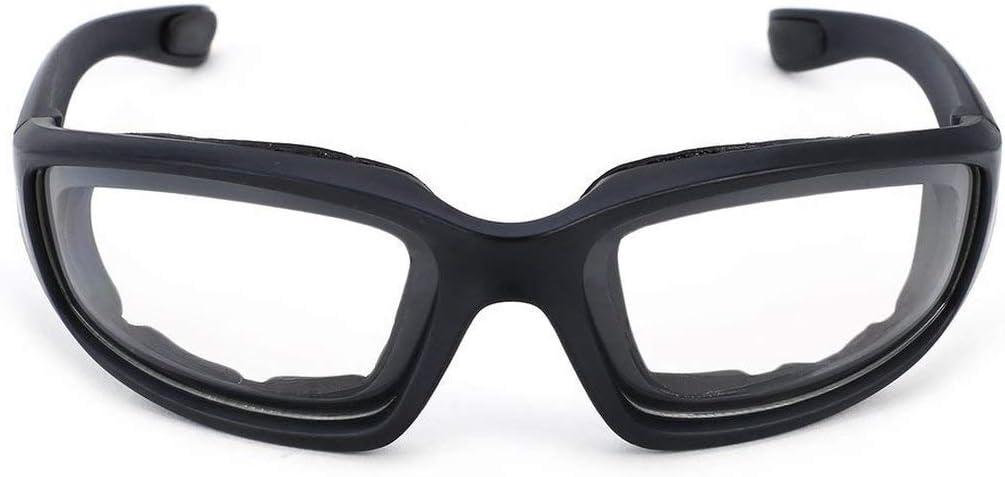 Petrichori Gafas Protectoras para Motocicleta Gafas a Prueba de Viento a Prueba de Polvo Gafas de Ciclismo Gafas Deportivas al Aire Libre Gafas - Transaprent