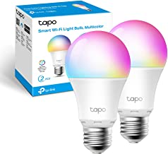 TP-Link Tapo Smart Wi-Fi Light Bulb Multicolour 2-Pack - E27, 8.7W, No Hub Required, Compatible with Alexa (Echo and Echo ...