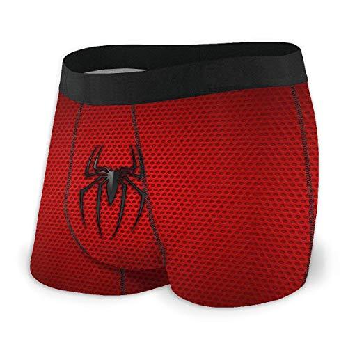 XCNGG Herrenunterwäsche Slips Boxershorts Men's Spid+erm-an Logo Background Boxer Briefs, Breathable Underwear No Ride-up Sport Under-wear