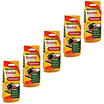 Kodak Fun Saver Single Use Camera 27 Exposures - 1 Each Pack of 5