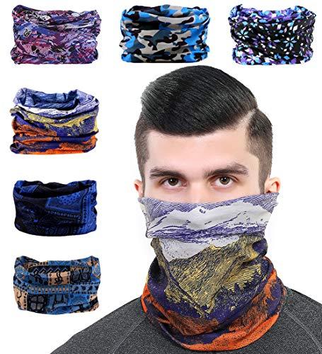 Toes Home 6PCS Outdoor Magic Headband Elastic Seamless Bandana Scarf UV...