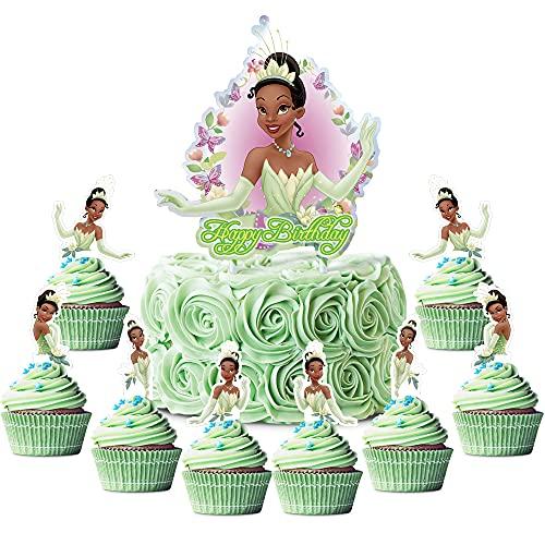 Girl Party Supplies for Tiana Cake Topper Cupcake...