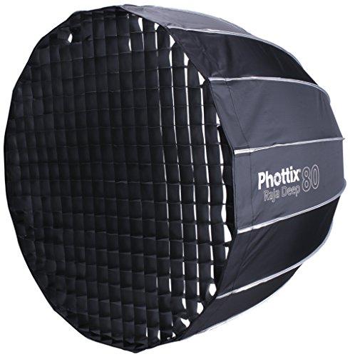 Phottix Raja Softbox, Schwarz, Tiefe, parabelförmige Softbox, schwarz, 32in