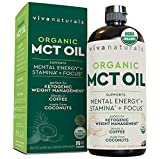 Organic MCT Oil for Keto Coffee (32 fl oz) | Best MCT Oil Keto Supplement to Support Energy and Mental Clarity, USDA Organic, Non-GMO and Paleo & Keto Diet Certified