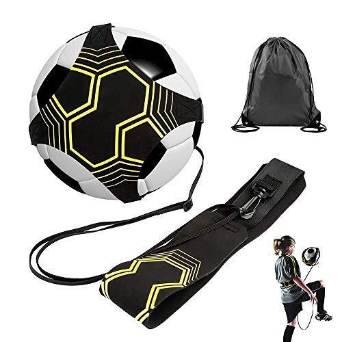 MOPOIN Fußball Kick Trainer, Solo Fußball Trainer Volleyball/Fußball Trainingsgeräte Kick Throw Trainer mit Verstellbarem Taillengürtel und Aufbewahrungstasche für Kinder Erwachsene Anfäng