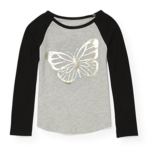 The Children's Place Big Girls' Graphic Long Sleeve Tee Shirt, H/T Falcon 13 88025, M (7/8)
