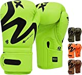 RDX Boxing Gloves for Training Muay Thai Maya Hide Leather Gloves for Sparring, Kickboxing, Fighting, Punch Bags, Double End Speed Ball Focus Pads Punching
