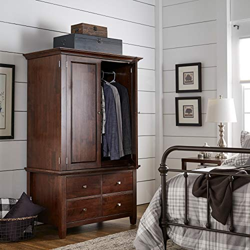 Buy 4-Drawer Armoire Brown Modern Contemporary Wood Includes Hardware