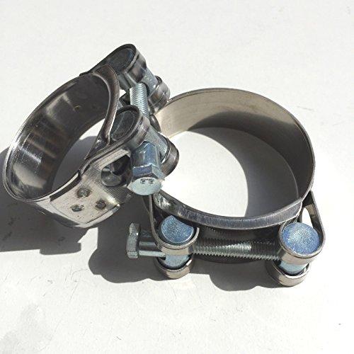 VE-Professional Auspuffschelle Gelenkbolzenschelle GBS Edelstahl W2 Turbolader HD Bandschelle (60-63mm)