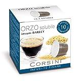 Caffè Corsini Orzo Solubile Capsule, Compatibili Nespresso, il Caffè Espresso Privo Naturalmente di Caffeina, dal Sapore Delicato e Persistente,12 Confezioni da 10 Capsule