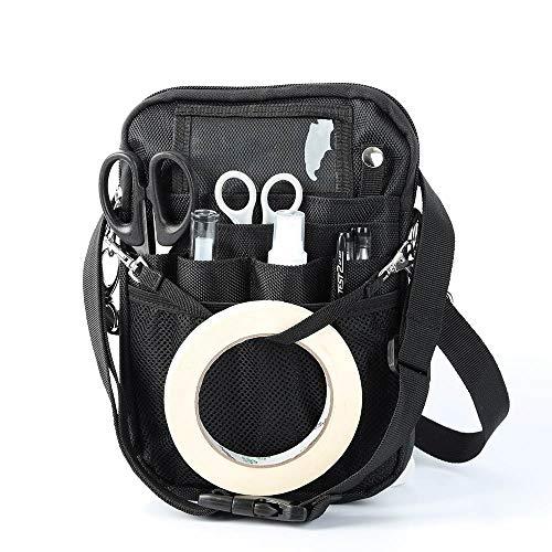 Verdelif Riñonera de enfermera con soporte para cinta, bolsa de enfermera con múltiples compartimentos, bolsillo de enfermería, organizador, cinturón, kit de herramientas, bolsillo