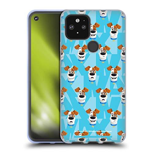 Head Case Designs Offizielle The Secret Life of Pets 2 Max Hund Muster for Pet's Sake Soft Gel Handyhülle Hülle Huelle kompatibel mit Google Pixel 5