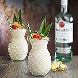 Utopia Hawaii Tiki Cocktail Glasses 18.3oz / 520ml - Set of 6 - Pineapple Tiki Glasses