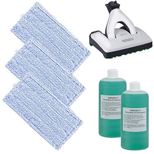 SPARSET - 3 Hochwertige Wischtücher mit Reiniger - Für Vorwerk SP600 Saugwischer und SPB100 Akku Saugwischer