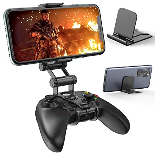 Controller Clip Mount Compatible with Xbox Series X S & Elite 2 Controller, OIVO Upgraded with Dual Adjustable Clip,Cell Phone Clip Mount, Clamp Bracket Holder for Xbox Core X S Controller Accessories