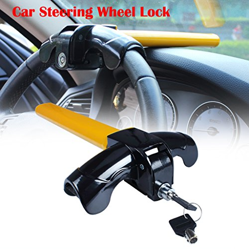 EFORCAR 1 PCS Universal Anti-Theft Car Auto Security Rotary Steering Wheel Lock