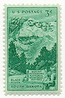USA Postage Stamp Single 1952 Mount Rushmore Issue 3 Cent Scott #1011