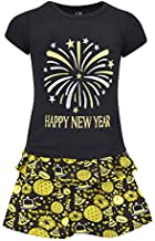 Unique Baby Girls Happy New Year 2 Piece Skirt Set Outfit (8)