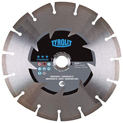Tyrolit 465980 Diamant-Trennscheibe Premium DCAB, abrasivem Beton, 230 mm x 2.4 mm/10 mm