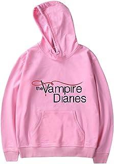 MINIDORA The Vampire Diaries Hoodie for Women Mens Long Sleeve Pullovers Sweatshirts Casual Hooded