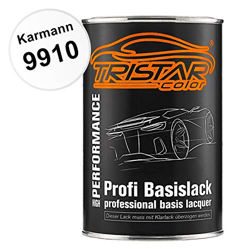 TRISTARcolor Autolack Dose spritzfertig für Karmann 9910 Reinweiss Basislack 1,0 Liter 1000ml
