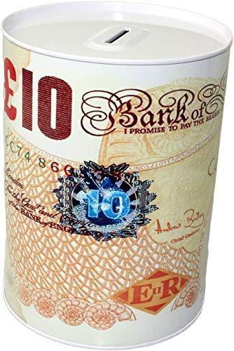 KAKKI Notes - Caja de lata para niños y adultos, diseño de billetes con billete impreso, tamaño pequeño, mediano y grande