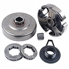 Fit For: HUSQVARNA 365 371 372 372XP 362 Chainsaw Parts Replace 503 74-44-01, 503 93 24-71, 501 59 80-02, 503 75 61-02, 537 20 78 05 Package Include: 1* Clutch Assembly, 1* Clutch Drum, 1* Needle Cage Bearing, 1* 3/8 7T Rim Sprocket, 1* 3/8 8T Rim Sp...