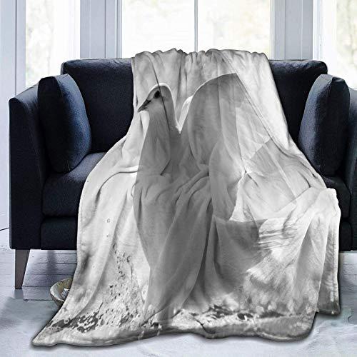 N \ A Manta de forro polar ultra suave, diseño de cacatúa de pájaro, loro, tropical, decoración del hogar, cálida manta para sofá cama, 20 x 60 pulgadas