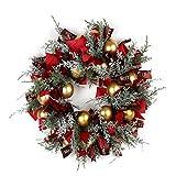 Tollmllom Decoraciones navideñas para Puertas Corona de Navidad Adornos de la Guirnalda de la Sala Pared medianera decoración Hecha a Mano Adornos Colgantes de Pared al Aire Libre