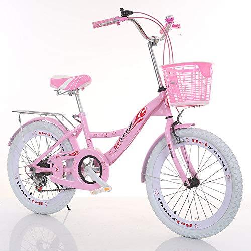 WANG-L Bicicletas De Montaña De 20/22/24 Pulgadas para Mujer Niña Velocidad Variable Freno Sensible Bicicleta De Carretera Trek,Pink1-22inches