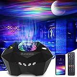 Bawoo Proyector Estrellas, Proyector Galaxia con Altavoz Bluetooth Control Remoto, Múltiples Modos de Luz Proyector...