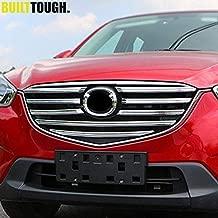 Exterior Parts Fit For Mazda Cx-5 Cx5 2015 2016 Chrome Front Mesh Grille Grill Bumper Cover Trim Insert Bonnet Garnish Molding Guard Protector
