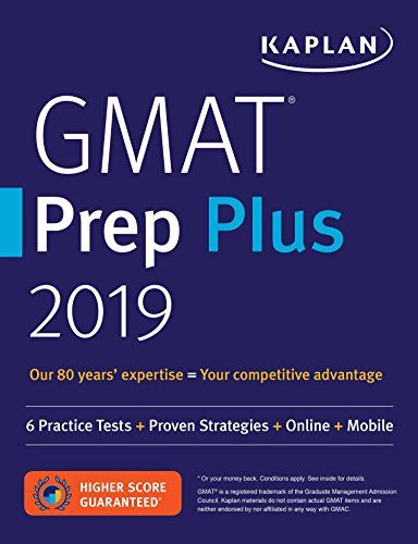 GMAT Prep Plus 2019: 6 Practice Tests +...