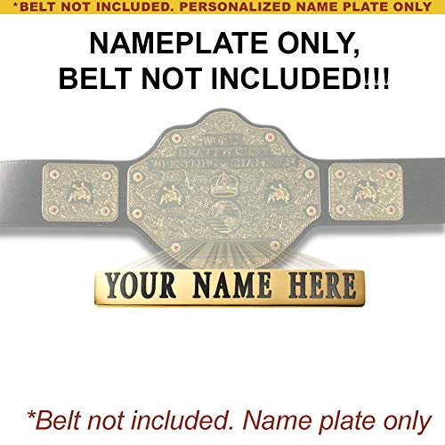 Figures Toy Company Personalized Nameplate for Adult WCW World Heavyweight Championship Replica Belt