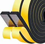 Fowong 25mm(W) x 10mm(T) x 4M(L) Closed Cell Foam Tape Thick Door Sound Insulation Tape Window Door Air Conditioner Weather Stripping SoundProof